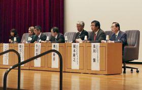 日本医師会などが開いた子宮頸がんワクチンについて考える講演会=13日午後、東京都文京区