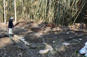 滋賀県野洲市の永原御殿跡で見つかった、徳川家康ら将軍の居室とみられる建物跡