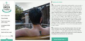 県が開設した海外向けに温泉の魅力を紹介するホームページ