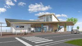 改築したJR石部駅(南側)の完成予想図