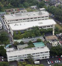 小倉泰裕容疑者が逃走した国立病院機構東尾張病院=23日午後、名古屋市守山区(共同通信社ヘリから)
