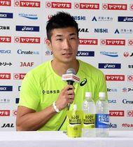 陸上日本選手権に向けて意気込みを語る桐生祥秀