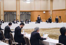 福島県いわき市で開かれた、東京電力福島第1原発の廃炉・汚染水・処理水対策福島評議会=18日午後