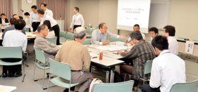 高松市で開かれた、核のごみの最終処分場について意見交換する「対話型全国説明会」 =26日午後