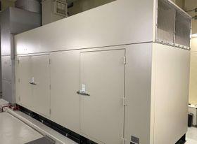苫小牧市立病院の非常用発電機=2日、北海道苫小牧市