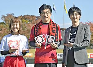 RAGFAIR・引地さんら福島ユナイテッドの入場曲CD贈る