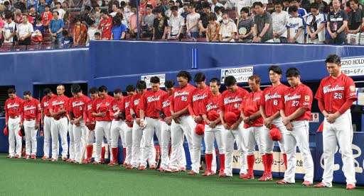 プロ野球 西日本豪雨犠牲者に黙とう ナゴヤドーム