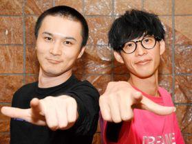 「互いの存在が刺激になっている」と話す加藤純一(左)と大石昌良=8月31日、宇和島市錦町