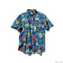 バンダイが発売した「機動戦士ガンダム」と沖縄発のリゾートウエアブランド「PAIKAJI(パイカジ)」のコラボアロハシャツ(バンダイ提供)