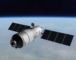天宮1号のイメージ(中国有人宇宙プロジェクト弁公室提供)