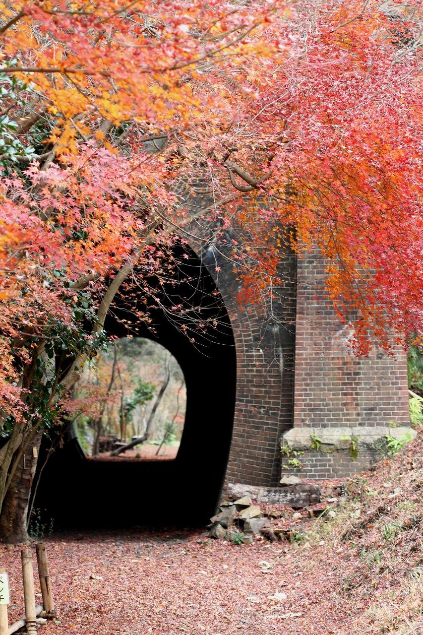 出入り口のデザインは1基ずつ異なる。アーチの迫石が七重に巻かれた珍しい構造を持つトンネルも。