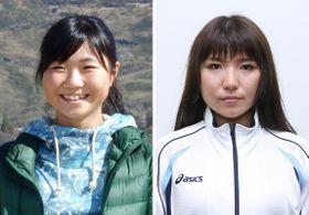 スノーボードの平昌冬季五輪代表入りが確実となった岩渕麗楽(左)、広野あさみ