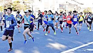 いわき市民ら部門別に健脚競う 小名浜一周駅伝、83チーム参加