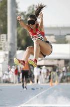 女子走り幅跳び(視覚障害)で4位に入った高田千明=ドバイで(共同)