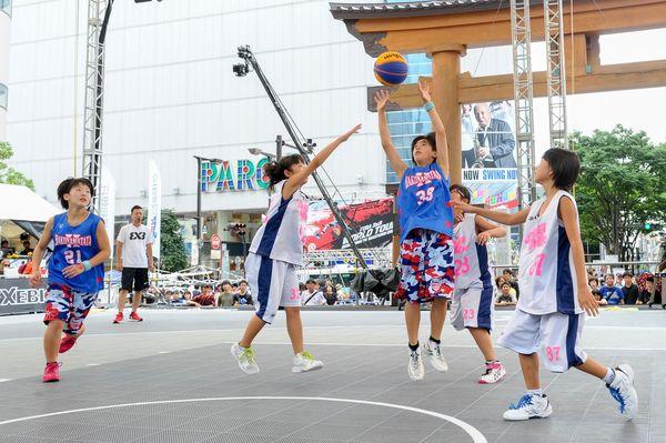 3人制バスケ小学生も楽しんで 国内男子トップリーグの前座で大会 宇都宮
