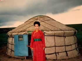 1986年、内モンゴル東ウジムチンにて