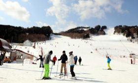 スキー客が低迷しているちくさ高原スキー場。週末でもリフト待ちは少ない=宍粟市千種町西河内