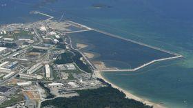 埋め立てが進む沖縄県名護市辺野古の沿岸部