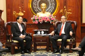 ベトナム・ホーチミン市共産党委員会ニャン書記長との意見交換