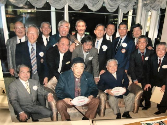 2005年、東京・青山で当時の「全日本学生選抜」のメンバーが米田満さんと篠竹幹夫さんを囲む会を開催した