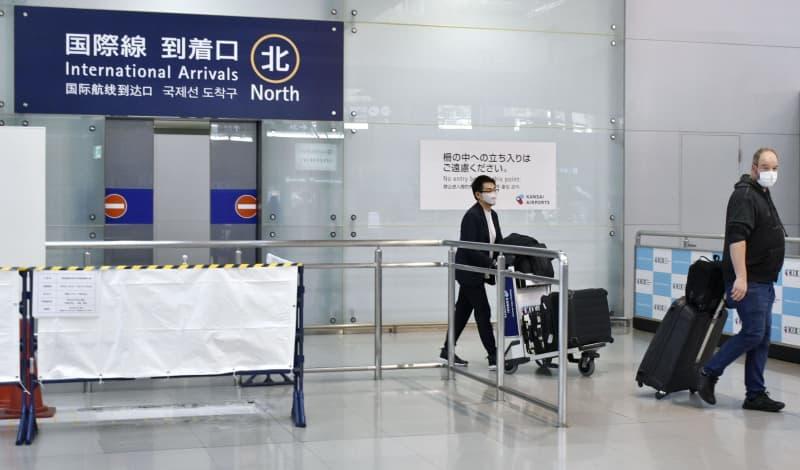 関西空港の国際線到着口=1日