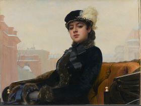 イワン・クラムスコイ「忘れえぬ女(ひと)」(1883 年 油彩・キャンヴァス) (c) The State Tretyakov Gallery