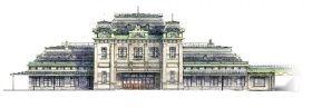 復元後の門司港駅のイメージ図(JR九州提供)