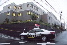 入居女性が殺害された高齢者施設「ココファンまちだ鶴川」=21日午後5時39分、東京都町田市