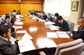 3月中の主催イベント原則禁止などを決めた市の新型コロナウイルス感染症対策本部会議