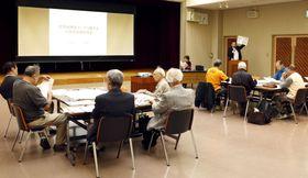 経産省と原子力発電環境整備機構が開いた核のごみの最終処分を巡る住民説明会=13日午後、石川県七尾市