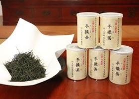 全国品評会で2等になった村上茶手揉保存会の手もみ茶
