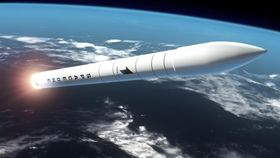 スペースワンが打ち上げる小型ロケットのイメージ(スペースワン提供)