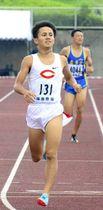 【男子800メートル決勝】大会記録を塗り替えて優勝した田母神一喜(中大)