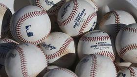 米大リーグの公式球(AP=共同)