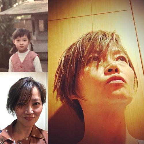 髪型で印象は変わる。髪を切った記念の一枚。写真が捉える一瞬は面白い