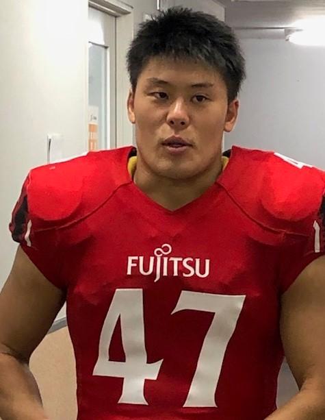 日本代表のLB山岸明夫選手