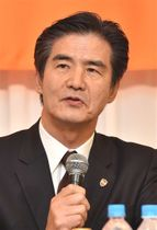 J1清水の社長に就任した山室晋也氏。新天地での手腕が注目される=静岡市内