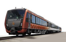 JR東日本が来年秋からの導入を発表した観光列車「海里」のイメージ(JR東日本新潟支社提供)