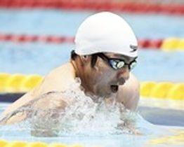 男子50メートル平泳ぎ(運動機能障害SB3) 50秒16の大会新を記録した鈴木孝幸=静岡県富士水泳場