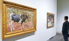 島根県美・夢の美術館展 常設展に関連作家作品並ぶ
