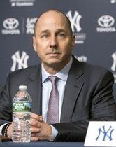 ヤンキースのキャッシュマンGM=ニューヨーク(AP=共同)