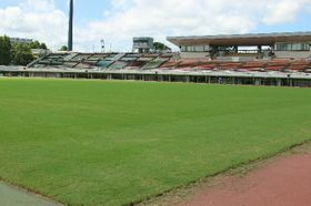 今月、大分トリニータのホーム戦2試合が開催される大分市営陸上競技場=大分市