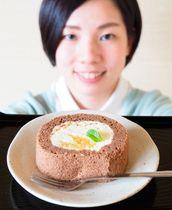 【「レストランいいたか」の「ココ夏ロールケーキ」】