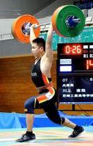 重量挙げ男子89キロ級 優勝した県尼崎工の川上直哉(提供写真)