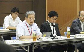 東京電力福島第1原発のトリチウム水の処分を検討する政府の小委員会=13日午後、東京都千代田区
