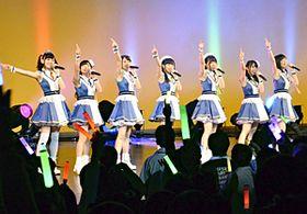 復興応援のチャリティーコンサートを開いたWake Up, Girls!の7人