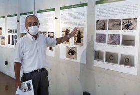 調査成果を説明する奈良県立橿原考古学研究所の西藤清秀技術アドバイザー=11日午後、奈良県橿原市