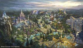 東京ディズニーシーに2022年度開業予定の新エリアの全景イメージ