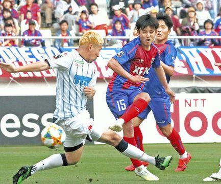 FC東京-札幌 後半24分、チーム2点目のゴールを決めるFC東京・久保建(15)=味の素スタジアムで