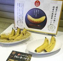 皮ごと食べられる「ともいきバナナ」=18日、東京都港区